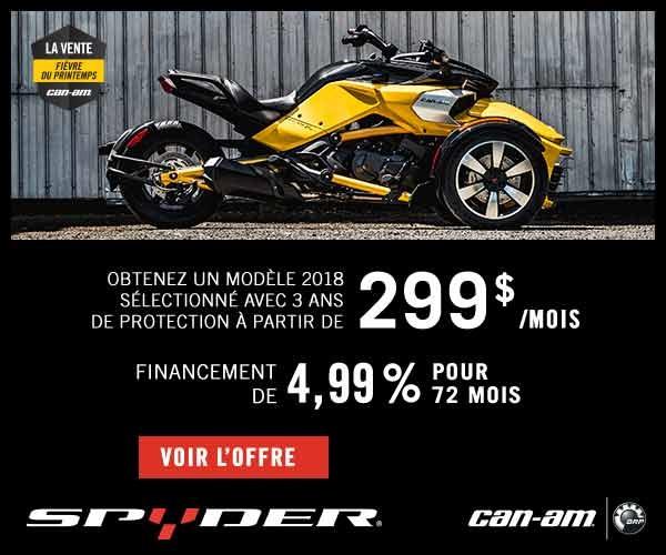Spyder promotion 2018