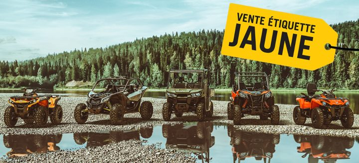 Vente étiquette jaune VTT/VCC